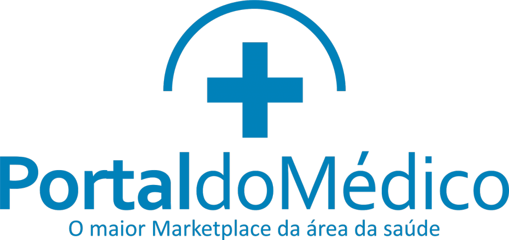 Logo portal do médico, no site ANYMARKET
